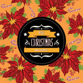 Cartaz feliz christmas.typography. — Foto Stock