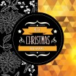Poster Merry Christmas.Typography.Vector illustration. — Stock Photo