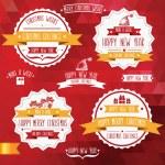 Set of creative Christmas badges. — Stock Photo