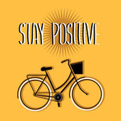 Summer poster with bicycle.Typography. Vector illustration. — Stock Photo