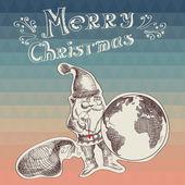 Ilustración de poster christmas.typography.vector feliz. — Foto de Stock