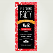 Invitation Merry Christmas.Typography.Vector illustration. — Imagens vectoriais em stock