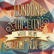 London poster.Typography.Vector illustration. — Vector de stock
