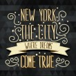 New York poster.Typography.Vector illustration. — Stock Vector