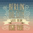 Berlin poster.Typography.Vector illustration. — Stock Vector