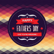 Poster Happy father's day.Typography.Vect or illustration. — Stock Vector