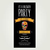 Invitation Halloween.Typography.Vector illustration. — Vector de stock