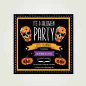 Invitation Halloween.Typography.Vector illustration. — ストックベクタ