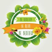 Cartel de ser healthy.typography. ilustración vectorial. — Vector de stock
