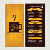 Cafe menu, template design. Vector illustration. — Vecteur