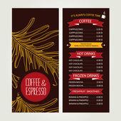 Café menú, diseño de plantillas. ilustración vectorial. — Vector de stock