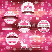 Set of creative Christmas badges. — Stock Vector