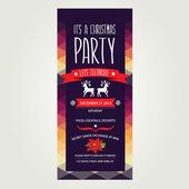 Ilustración invitación feliz christmas.typography.vector. — Vector de stock