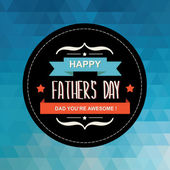 Poster Happy father's day.Typography.Vect or illustration. — ストックベクタ