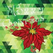 Ilustración de poster christmas.typography.vector feliz. — Vector de stock