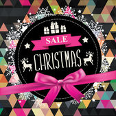 Poster Christmas Sale — Stock Vector