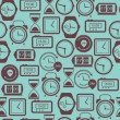 Seamless pattern with watches.Vector illustration. — Imagen vectorial