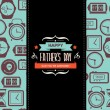 Poster Happy father's day. — Stock vektor