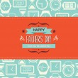 Poster Happy father's day. — Stock Vector
