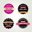 Stock Vector: Set of labels Best sale.