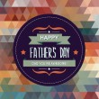 Vector de stock : Poster Happy father's day.