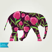 Cartoon elephant. — Stock Vector
