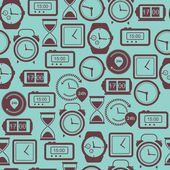 Seamless pattern with watches.Vector illustration. — Stock Vector