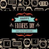 Affisch happy fars dag. — Stockvektor