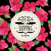 Affiche let ' s go shopping.typography. — Vecteur