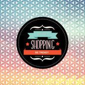Poster gehen shopping.typography. — Stockvektor