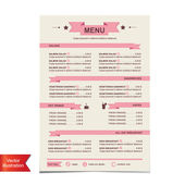 Cafe menu, template design.Vector illustration. — Stock Vector