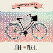 Cartel de verano con la ilustración de bicycle.typography.vector. — Vector de stock