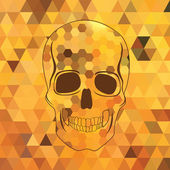 Skull .Vector illustration. — Stock Vector
