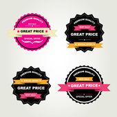 最高の販売をラベルのセット. — ストックベクタ