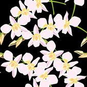 Seamless pattern floreale, disegno a mano. — Vettoriale Stock