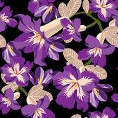 シームレスな花柄、手描き. — ストックベクタ