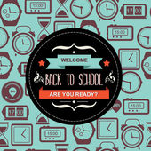 Poster Back to school. — Stock Vector