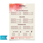 Cafe menu, template design.Vector illustration. — Stock Vector