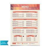 Kawiarnia w menu szablon design.vector ilustracja. — Wektor stockowy