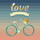 Summer poster with bicycle.Typography. Vector illustration. — Stock Vector