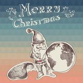 Poster Merry Christmas.Typography.Vector illustration. — Stok Vektör