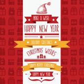 Illustrazione di allegra christmas.typography.vector poster. — Vettoriale Stock
