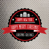 Poster Merry Christmas.Typography.Vector illustration. — Stock Vector
