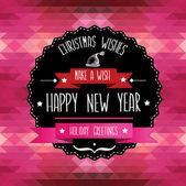 Poster merry christmas.typography.vector illustratie. — Stockvector