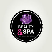 Icon design, spa and beauty. — Stock Vector