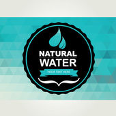 Icon design, water and nature. — Stock Vector