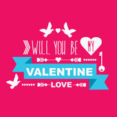 Valentine's Day poster — Vector de stock