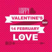 Valentine's Day poster — 图库矢量图片