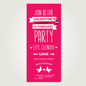 Invitation Valentine's Day — Vecteur