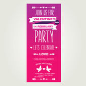 Invitation Valentine's Day — Stok Vektör